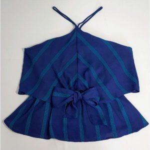 💰3/20$💰NWOT MONTEAU blue halter top blouse